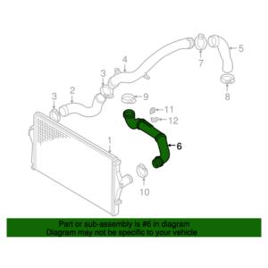 VOLVO ALKATRÉSZ : 31101214 - Turbócső, Intercooler-motor között (Benzin)