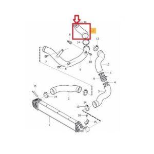 VOLVO ALKATRÉSZ : 31274235 - Turbócső Turbó-Intercooler között