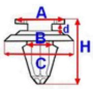 VOLVO ALKATRÉSZ : 30653441 - Kárpit patent (10 db)