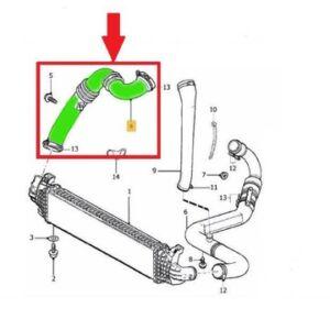 Turbócső, Intercooler - motor között D4204T (kézi váltó)