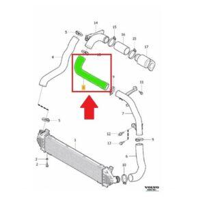 Turbócső, Turbó-Intercooler között - D4162T